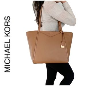 NWT authentic MK genuine leather Whitney tote